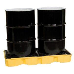 2-Drum Spill Pallet w/30gal-Capacity