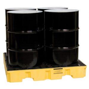 4-Drum Spill Pallet w/66gal-Capacity
