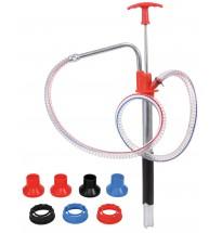 Hand Pump w/Pail Spout Adapters, Hose & Nozzle
