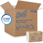 SCOTT ESSENTIAL SINGLE-FOLD TOWELS