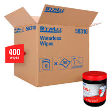 WYPALL WATERLESS CLEANING WIPES GREEN/WHITE