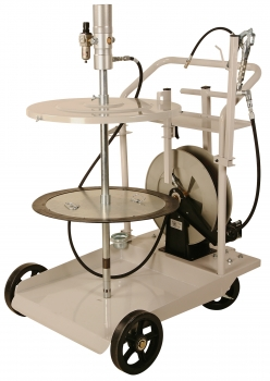 Grease System, 420 lb, w/ Heavy Duty 4 Wheel Cart & 50´ Hose Reel, FOB Wichita, KS
