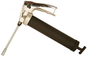 Handgrip Grease Gun, Cast Iron, 14 oz., w/ Rigid Extension
