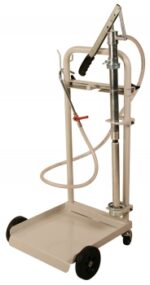Mobile Oil Hand Pump System, w/ 4 Wheel Cart & Cover for 16 Gallon Drum