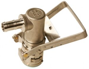 RSV Series Drum Coupler (MicroMatic), Stainless Steel, 3/4˝ Hose Barb, 4 Pin