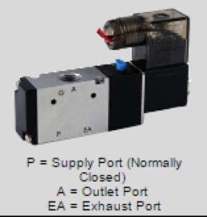 1/2˝ NPT, 3 Port NO/NC, 24 VDC Air Solenoid Valve